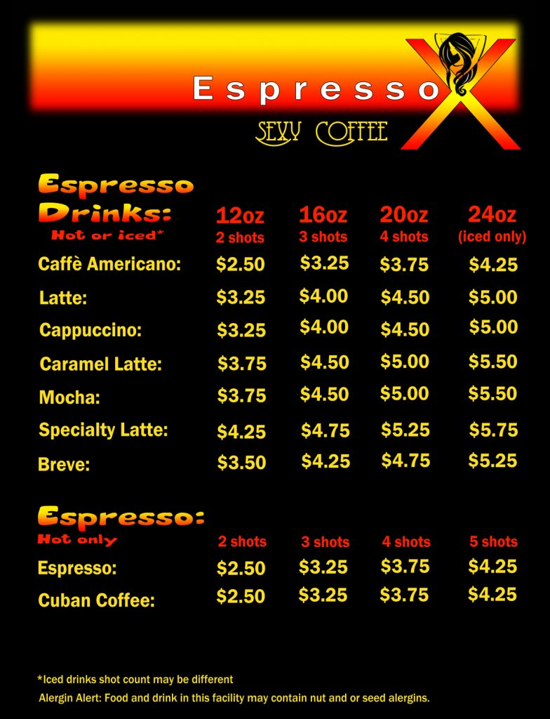 Espresso-X Price List page 2
